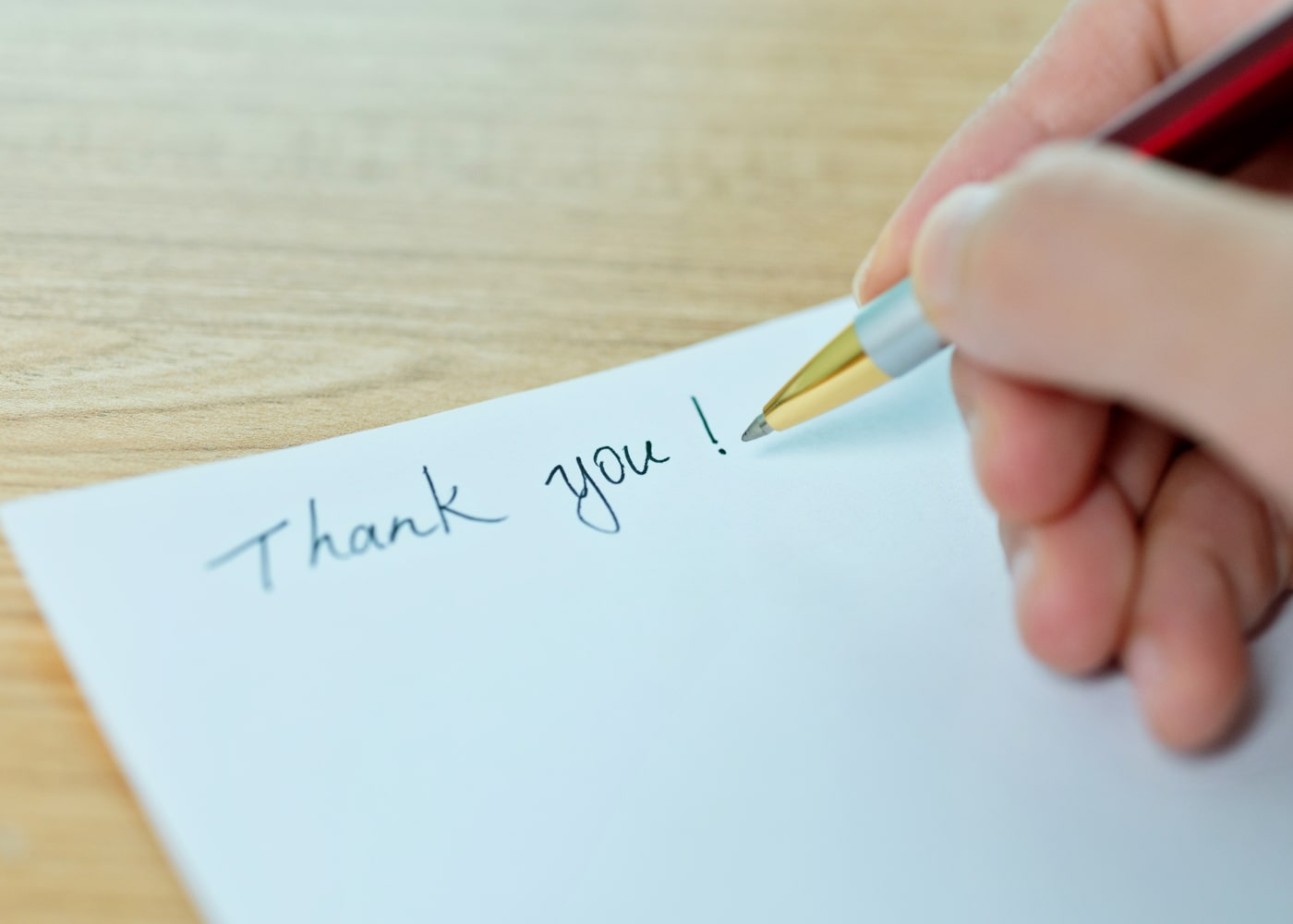 Business communication - handwritten note