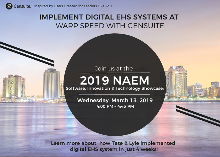Implement Digital EHS Systems at Warp Speed with Gensuite