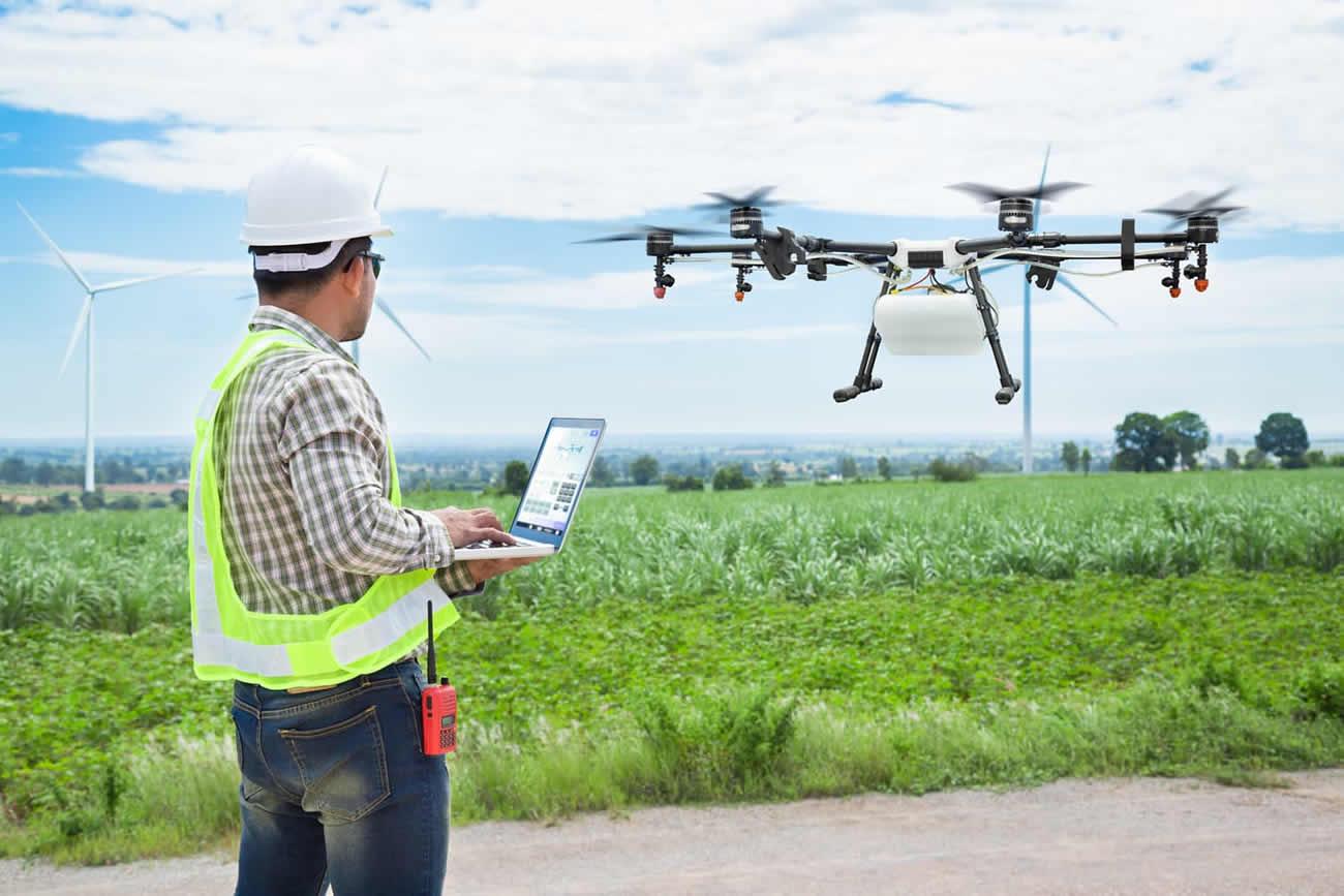 technician-drone-crop-field